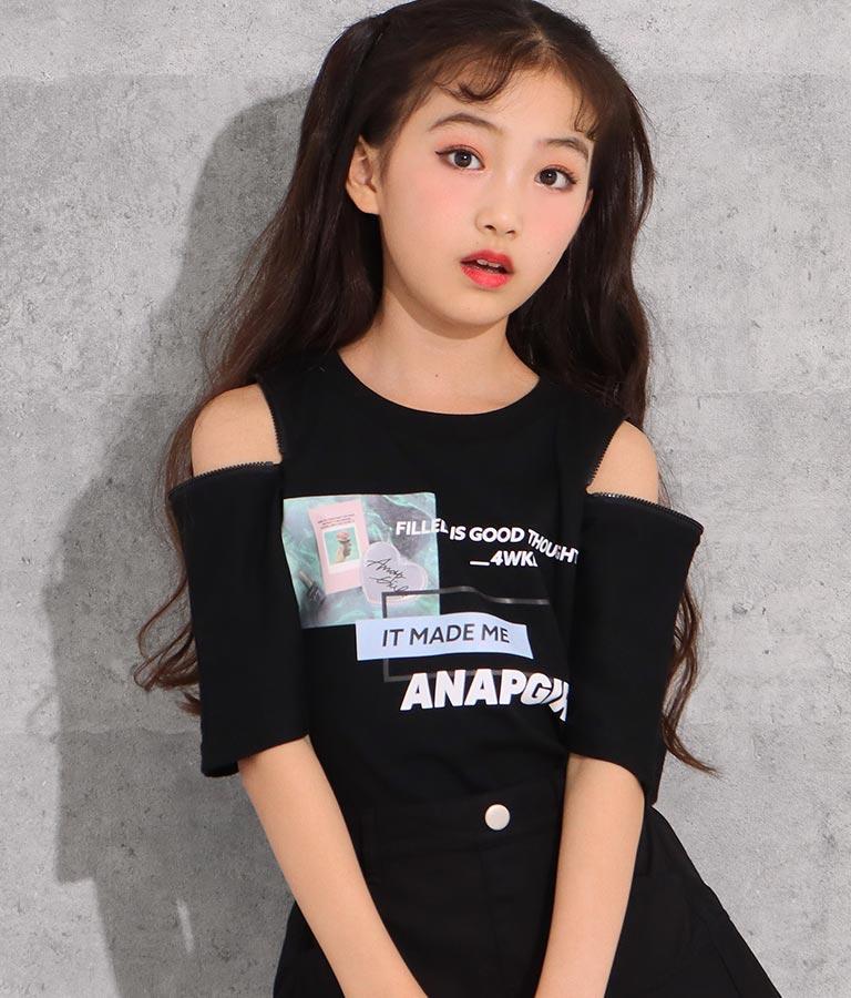 両袖ジップ転写トップス(トップス/Tシャツ) | ANAP GiRL