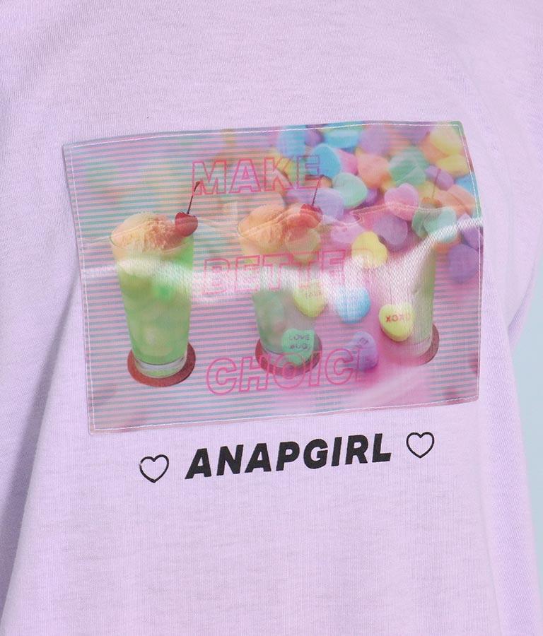 クリームソーダ裾チュール重ねトップス(トップス/Tシャツ)   ANAP GiRL