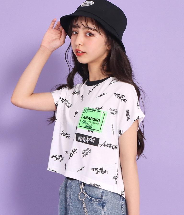 2柄クロップド丈トップス(トップス/Tシャツ) | ANAP GiRL