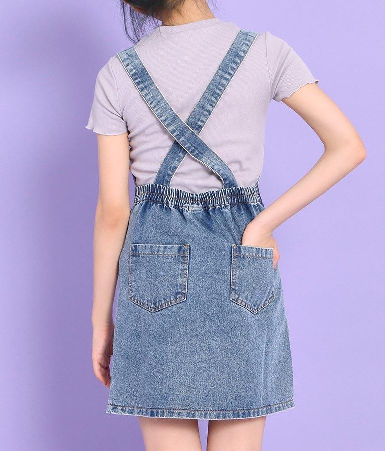 フロントボタンジャンパースカート(ワンピース・ドレス/ミニワンピ)   ANAP GiRL