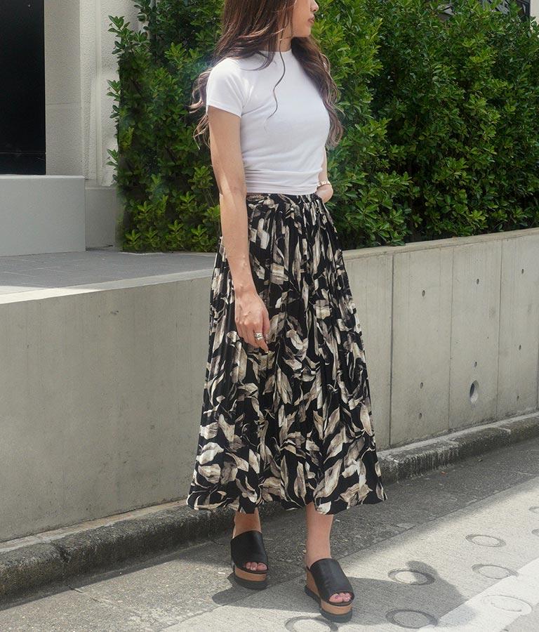 ボタニカル柄ロングスカート(ボトムス・パンツ /スカート) | ANAP