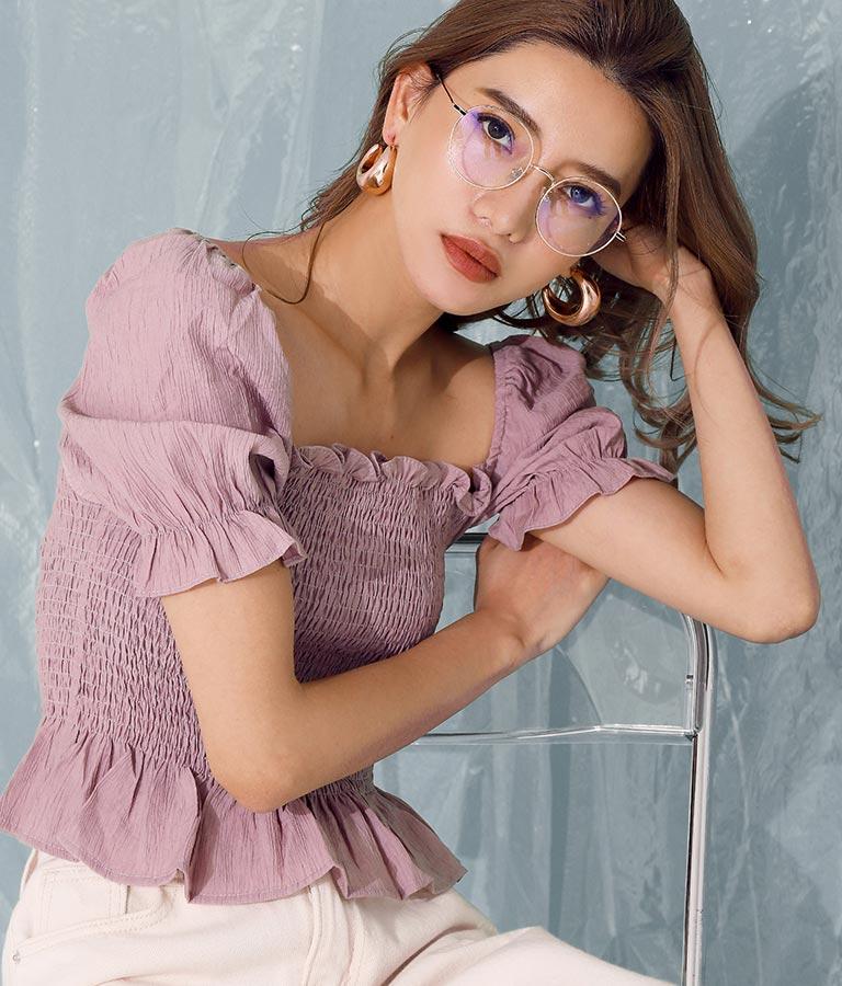 メタルフレームクリアサングラス(ファッション雑貨/サングラス) | ANAP