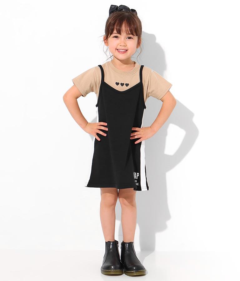 ラインキャミソールワンピースセットアップ(ワンピース・ドレス/Tシャツ・ミディアムワンピ)   ANAP KIDS