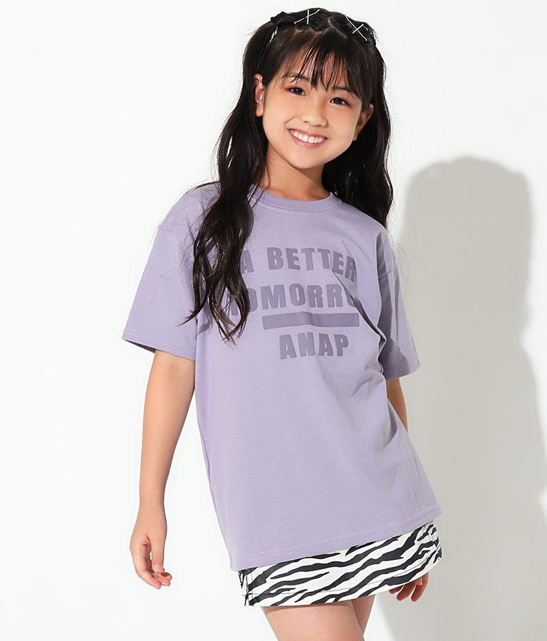 発泡プリントビッグTシャツ+ウエストポーチセット(トップス/Tシャツ)   ANAP KIDS