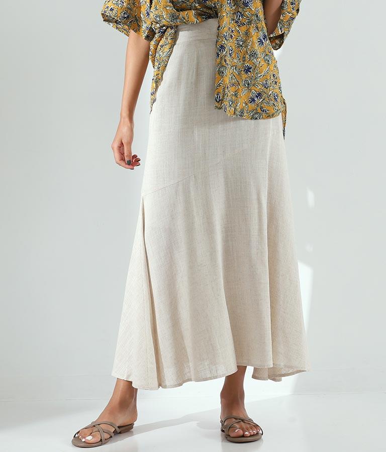 リネンライクマーメイドスカート
