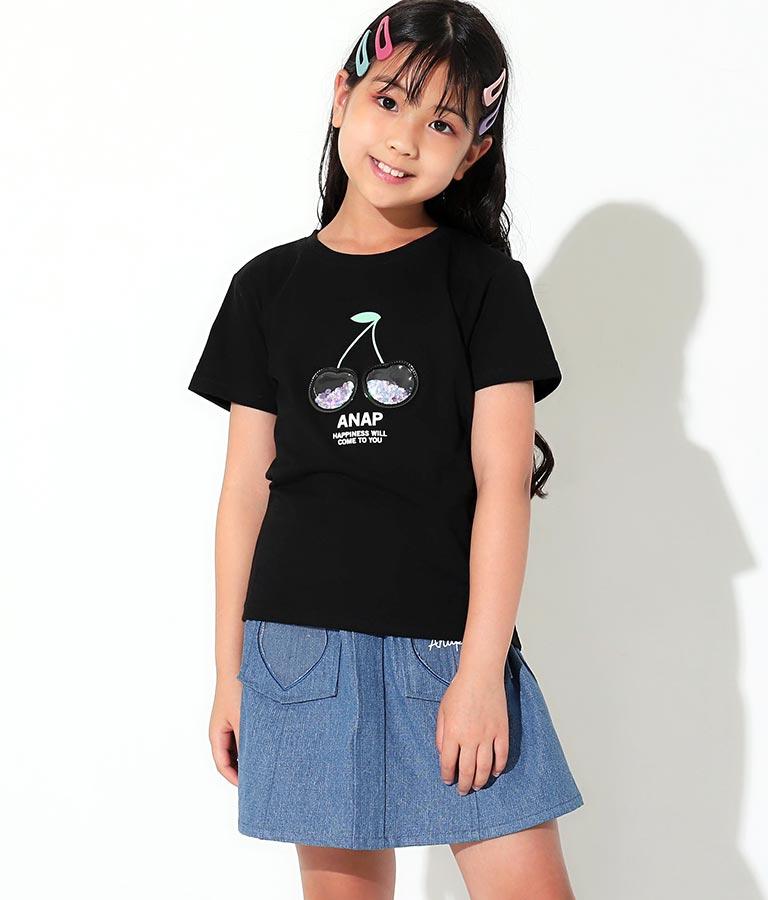 クリアチェリースパンコールTシャツ(トップス/Tシャツ)   ANAP KIDS