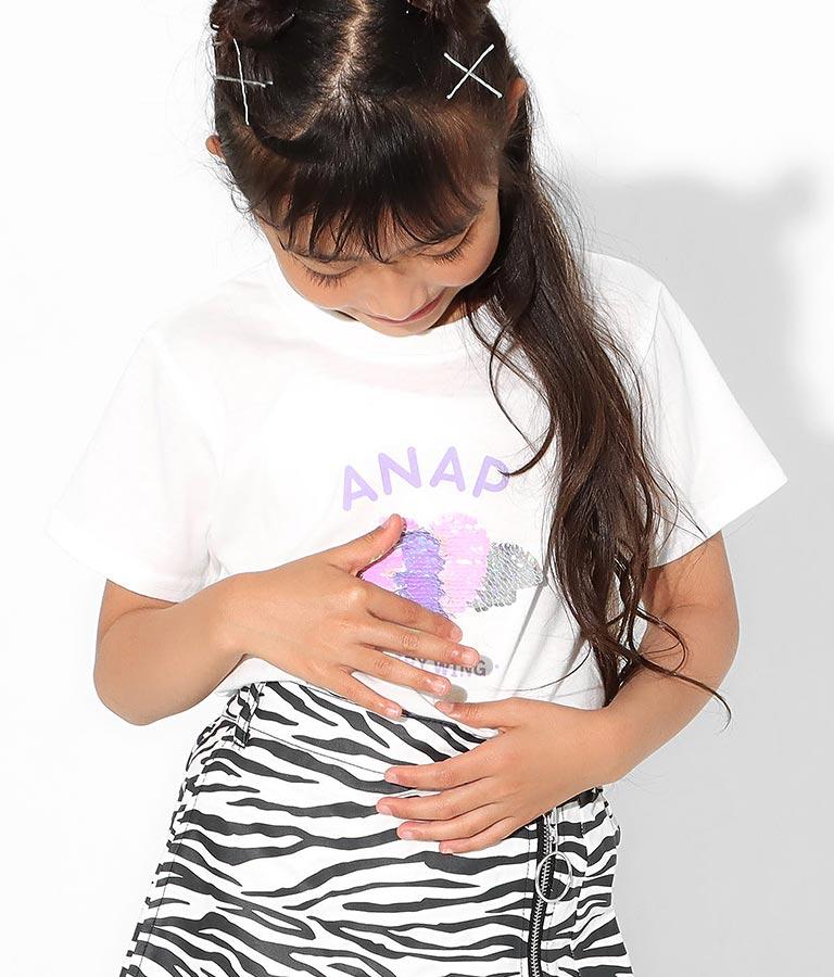 羽ハートスパンコールチュニック(トップス/Tシャツ) | ANAP KIDS