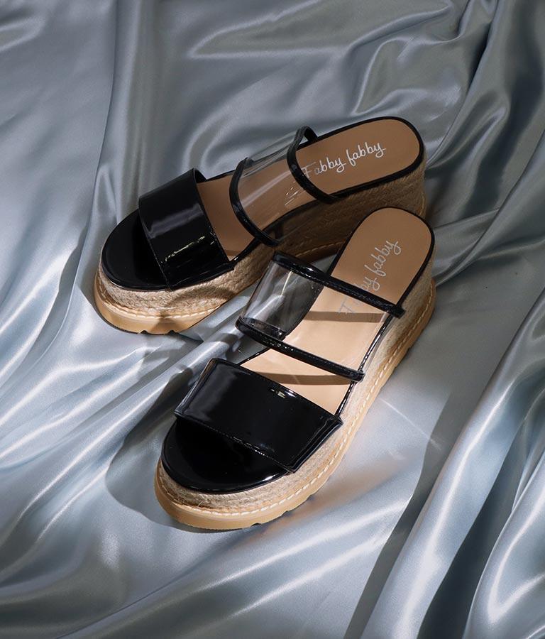 クリアベルトエスパドリーユウェッジサンダル(シューズ・靴/サンダル)   ANAP