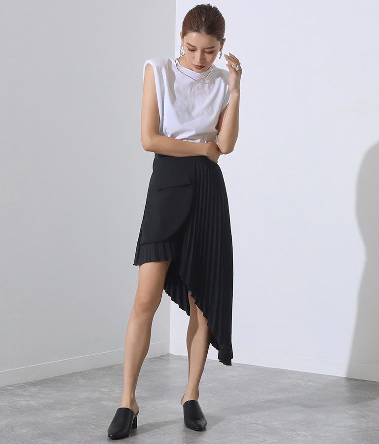 アシンメトリーデザインプリーツスカート(ボトムス・パンツ /スカート) | Settimissimo