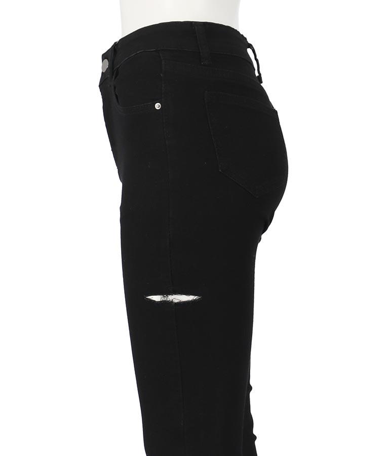 サイドカットブラックスキニーパンツ(ボトムス・パンツ /ロングパンツ) | ANAP