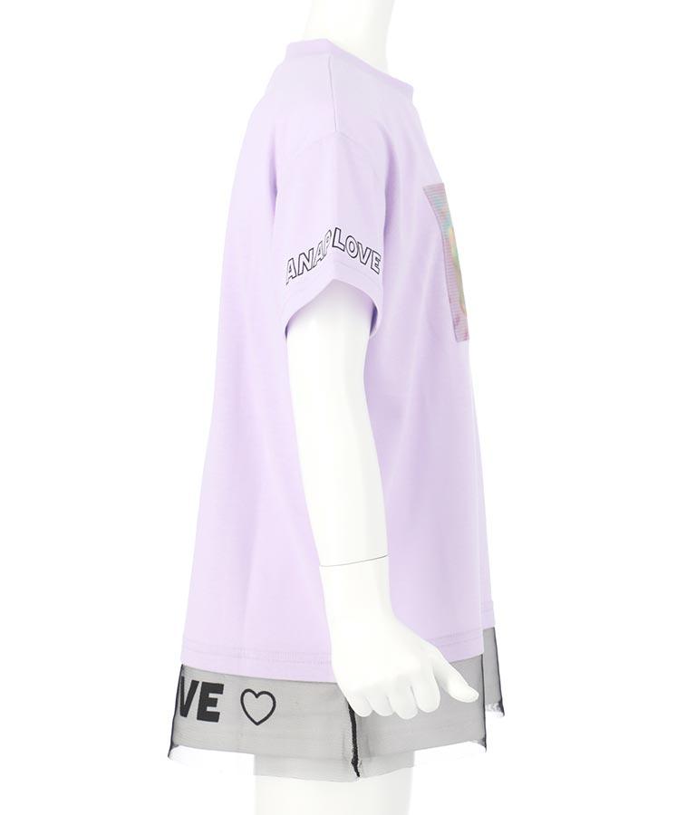 クリームソーダ裾チュールトップス(トップス/Tシャツ) | ANAP KIDS