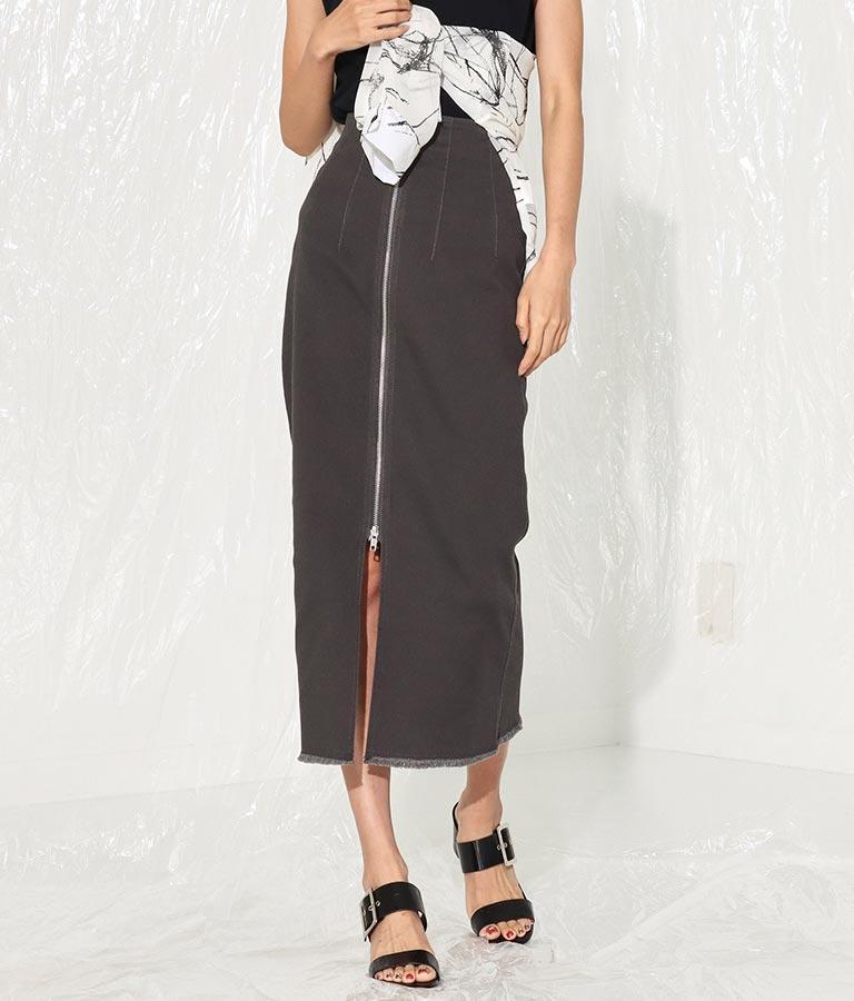 フロントジップストレッチツイルロングスカート(ボトムス・パンツ /スカート) | ANAP