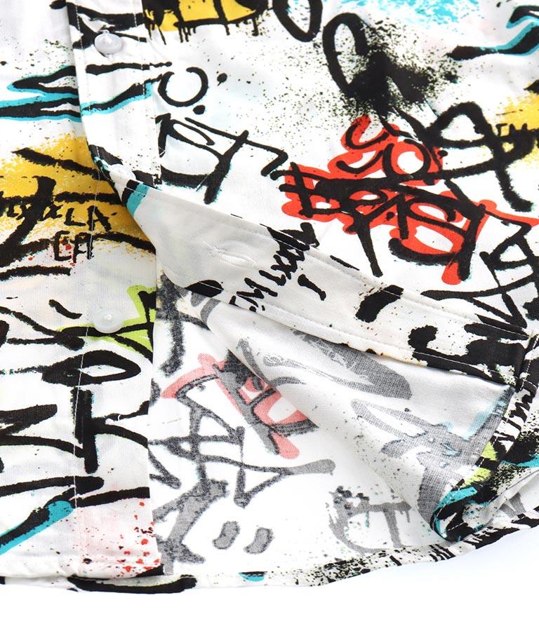 SS ECO RAYON GRAFFITI SHIRT(トップス/シャツ・ブラウス) | GUESS