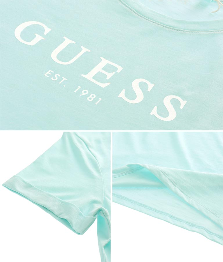 ES SS GUESS 1981 ROLL CUFF TEE(トップス/Tシャツ) | GUESS