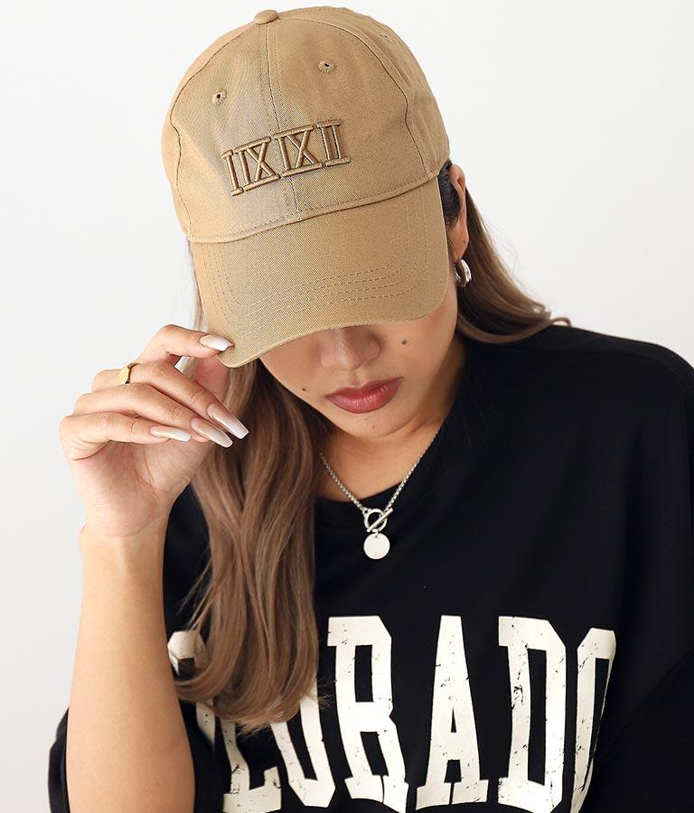 刺繍シンプルキャップ(ファッション雑貨/ハット・キャップ・ニット帽 ・キャスケット・ベレー帽) | ANAP