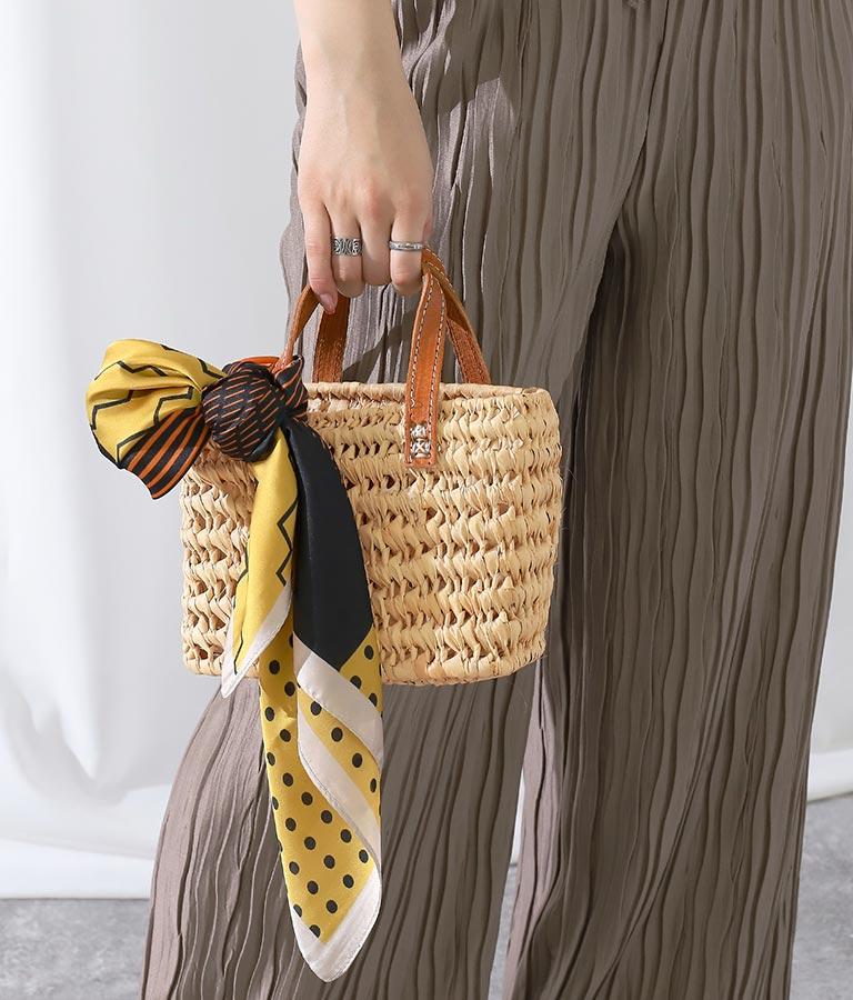 ハンドメイドレザーハンドルストローバッグ(バッグ・鞄・小物/ハンドバッグ) | Settimissimo