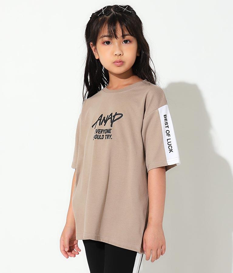 制菌袖切替ビッグTシャツ(トップス/Tシャツ) | ANAP KIDS