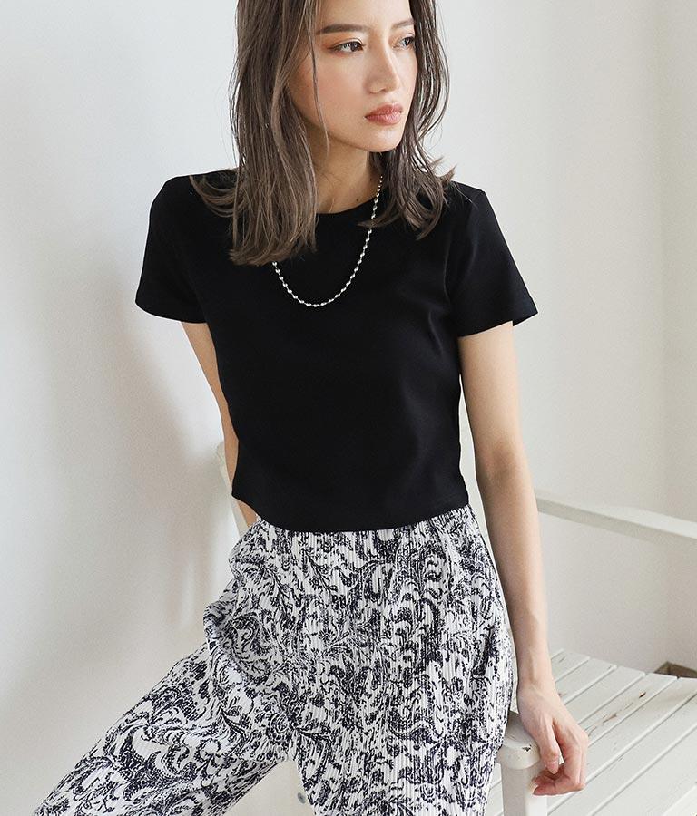 バックオープンクロップドTシャツ(トップス/Tシャツ)   ANAP