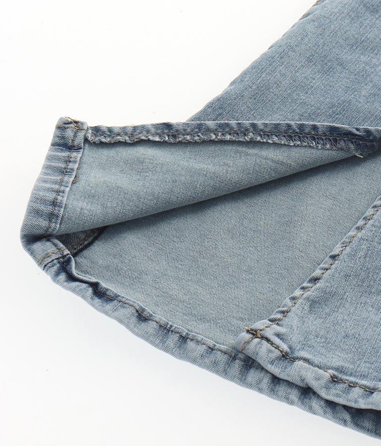 裾スリットストレッチ薄デニムパンツ(ボトムス・パンツ /ロングパンツ) | CHILLE