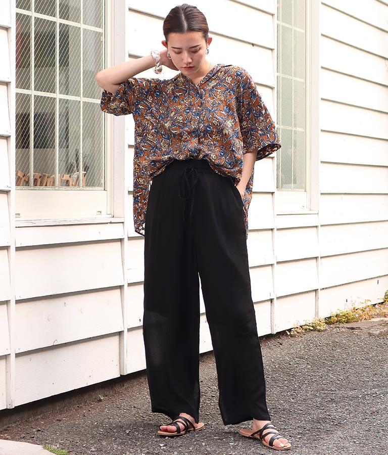 シアージャガードプリントシャツ(トップス/シャツ・ブラウス)   Alluge