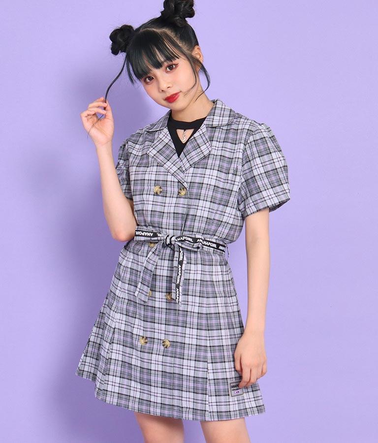 チェックシャツワンピース(ワンピース・ドレス/ミディアムワンピ)   ANAP GiRL