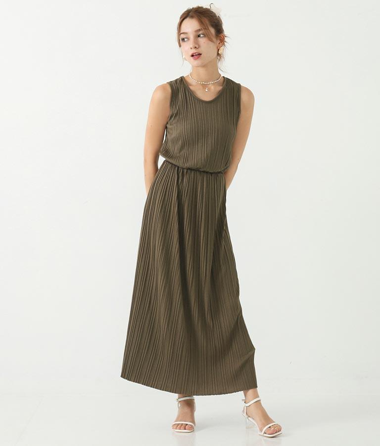 〔選べる3サイズ〕プリーツマキシワンピース(ワンピース・ドレス/ロングワンピ)   CHILLE