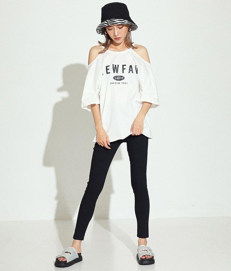 オープンショルダープリントTシャツ(トップス/Tシャツ) | ANAP