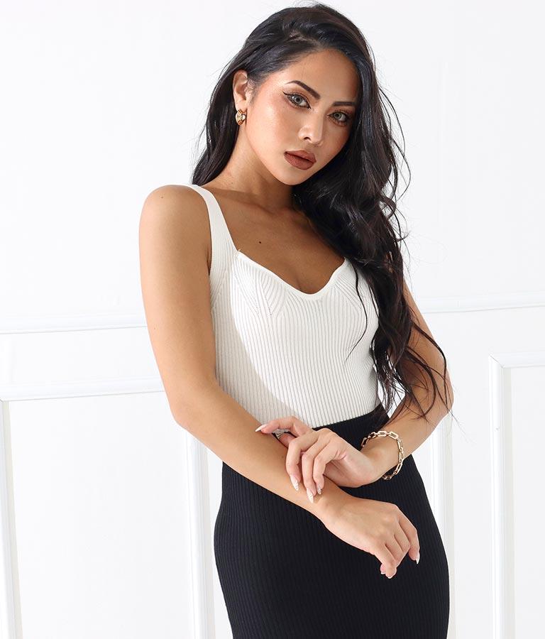 バイカラーモノトーンフィット&フレアワンピース(ワンピース・ドレス/ロングワンピ)   anap Latina