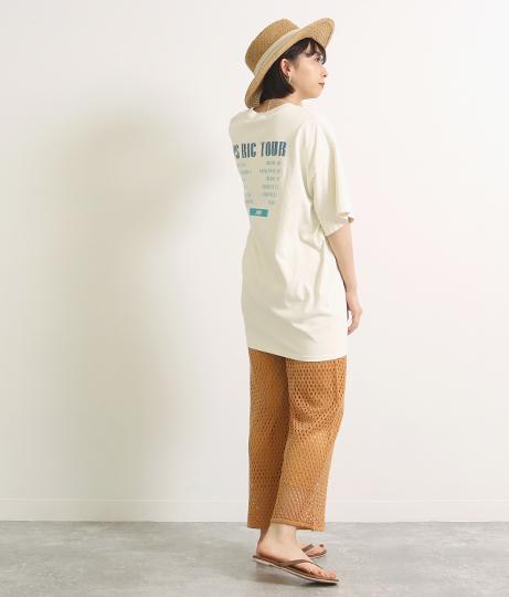 メッシュ編みパンツ(ボトムス・パンツ /ロングパンツ) | Factor=