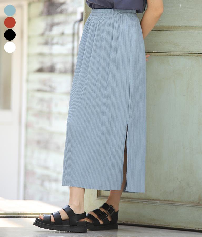 リブスリットスカート(ボトムス・パンツ /スカート)   CHILLE