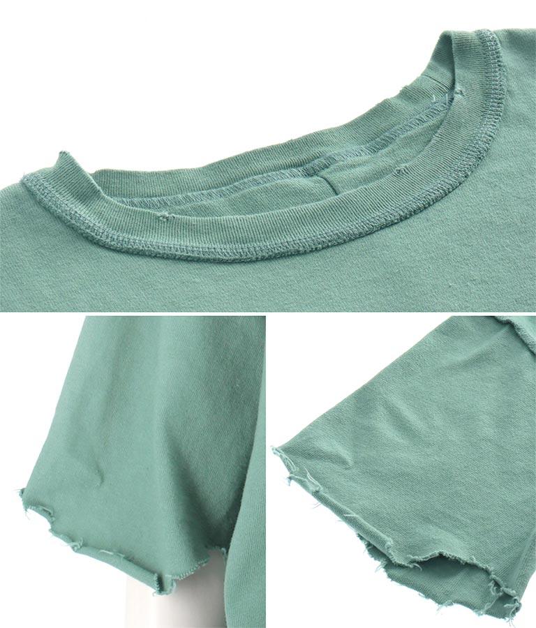 ダメージ加工ビッグシルエットTシャツ(トップス/Tシャツ) | Settimissimo