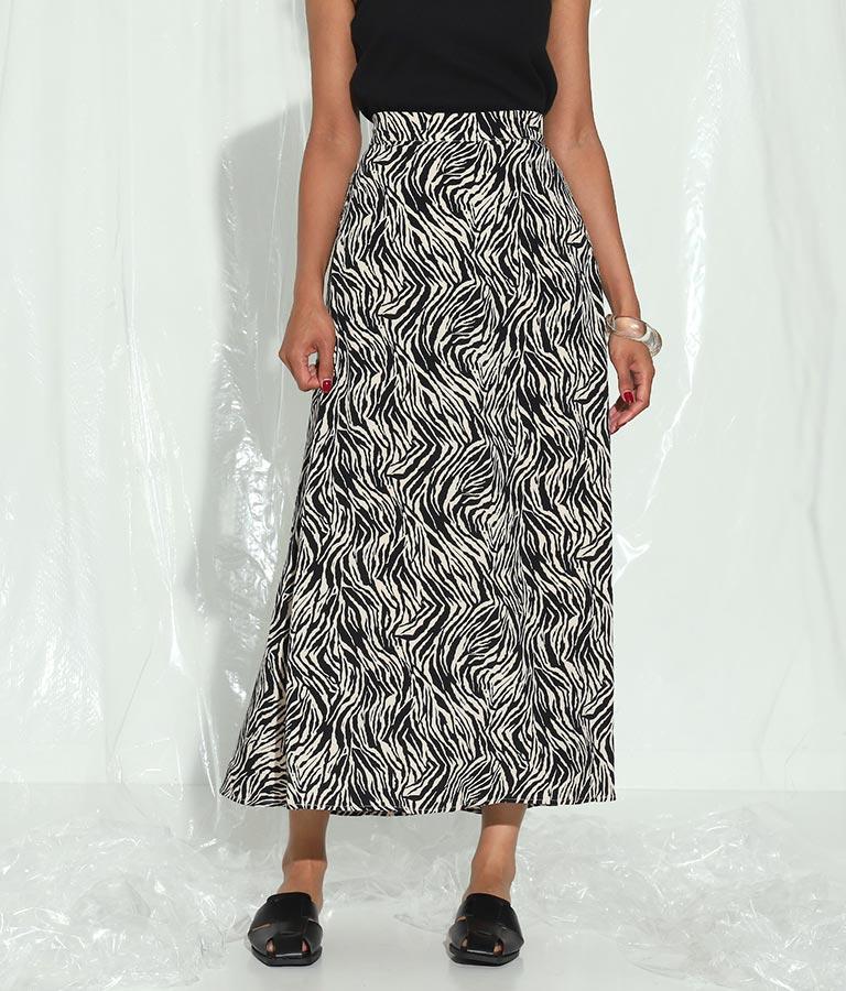 ゼブラプリントフレアロングスカート(ボトムス・パンツ /スカート) | Settimissimo
