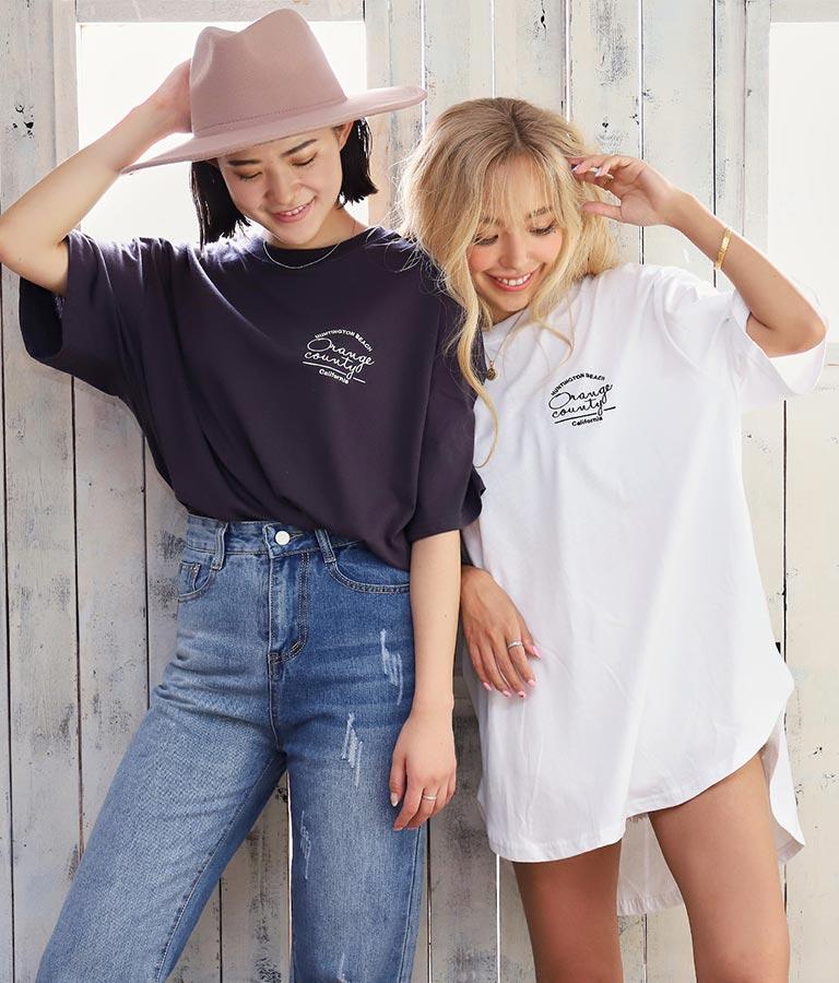 国旗レタリング刺繍ビッグTシャツ(トップス/Tシャツ) | anap mimpi