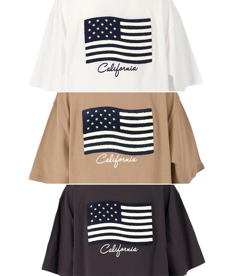 サガラ国旗刺繍ビッグTシャツ(トップス/Tシャツ) | anap mimpi