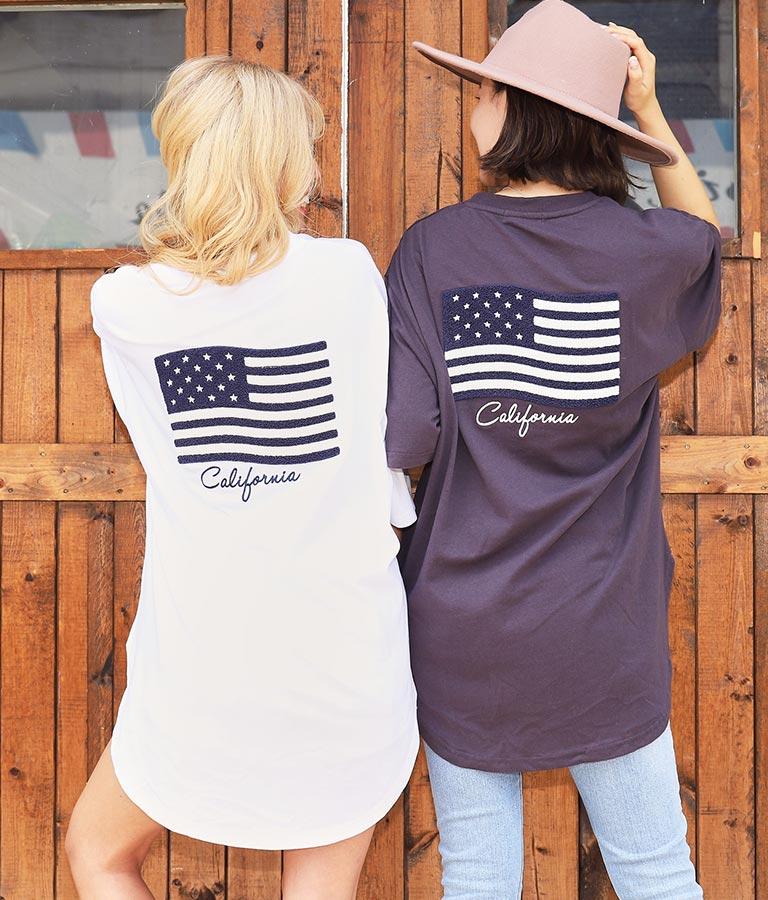 サガラ国旗刺繍ビッグTシャツ