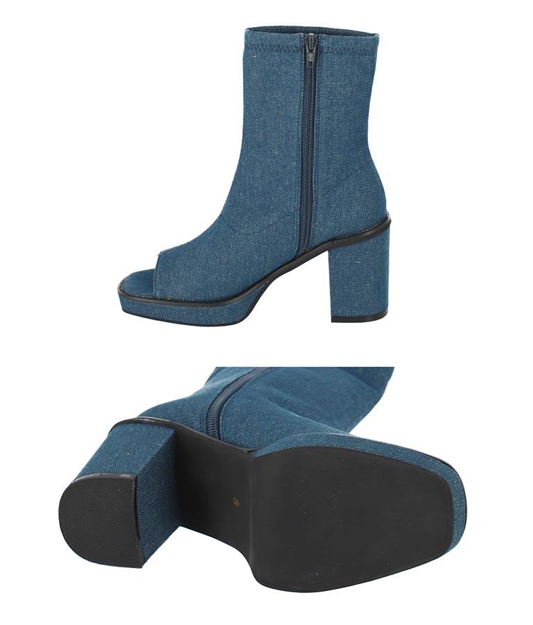 デニムオープントゥショートブーツ(シューズ・靴/ブーツ) | anap Latina