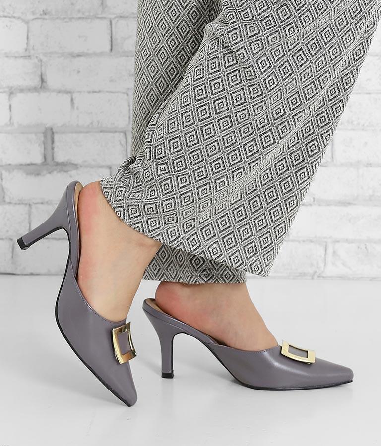 ゴールドバックルポインテッドトゥミュール(シューズ・靴/サンダル・パンプス) | anap Latina