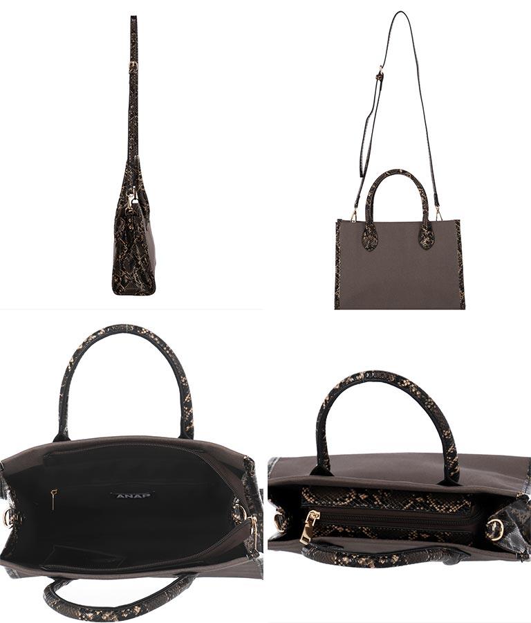 パイソンキャンバスミニバッグ(バッグ・鞄・小物/ハンドバッグ) | ANAP