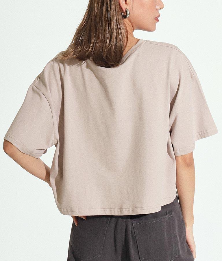 クロップドモチーフプリントTシャツ(トップス/Tシャツ)   ANAP