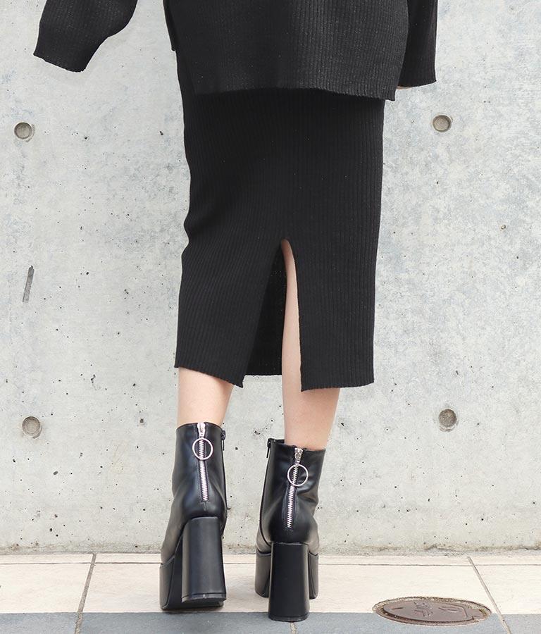 ウールタッチリブニットラメMIXスカート(ボトムス・パンツ /スカート) | ANAP