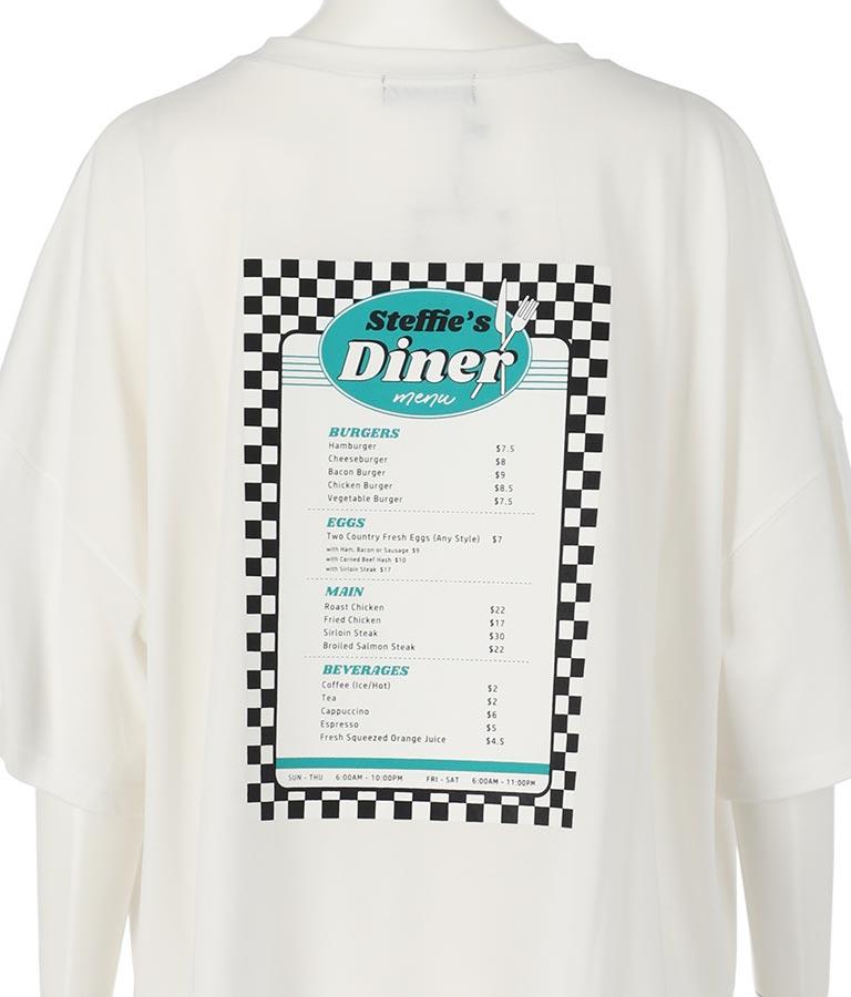 dinerプリントオーバーサイズTシャツ(トップス/Tシャツ)   ANAP