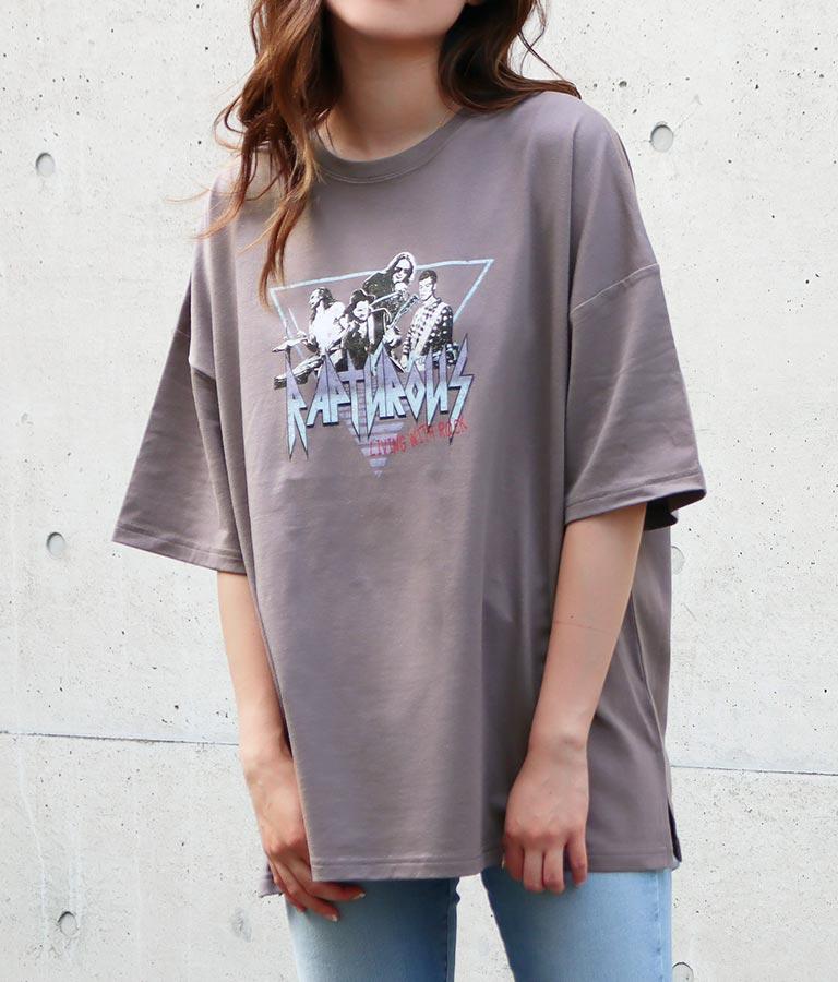バンドプリントロックTシャツ(トップス/Tシャツ)   anap mimpi