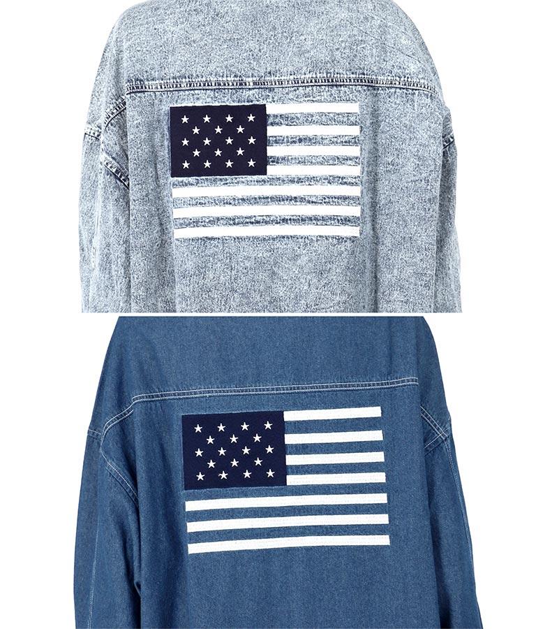 国旗刺繍デニムシャツ(トップス/デニムシャツ) | anap mimpi