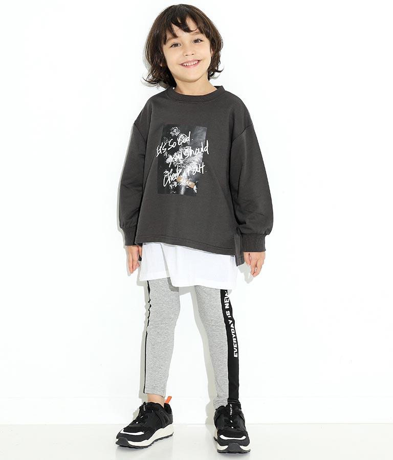フォトプリントミニ裏毛トレーナー(トップス/スウェット・トレーナー)   ANAP KIDS