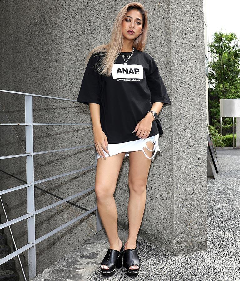 ANAPロゴオーバーサイズTシャツ(トップス/Tシャツ) | ANAP