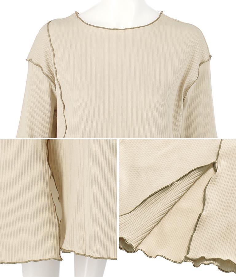 カットリブ配色メロウワンピース(ワンピース・ドレス/ロングワンピ) | Settimissimo
