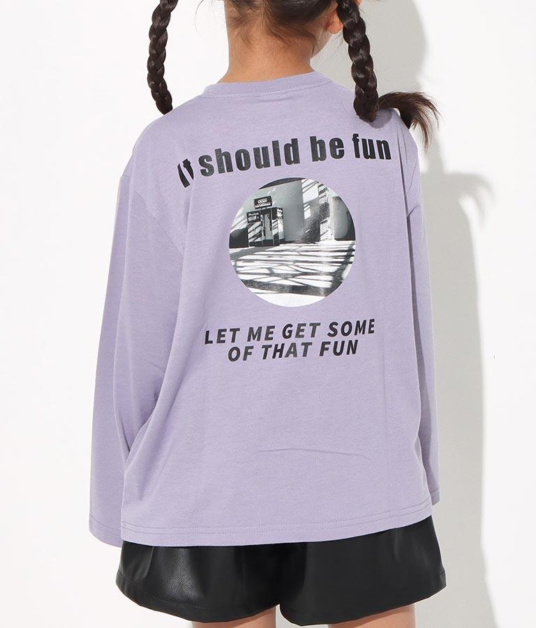 ボックスロゴフォト転写ビッグロンT(トップス/Tシャツ)   ANAP KIDS