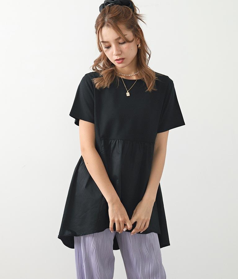 切替バックテールTシャツ