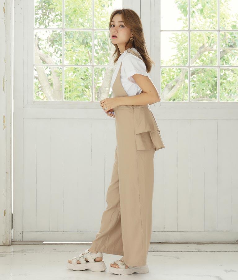 バックフリルオールインワン(ワンピース・ドレス/サロペット/オールインワン) | CHILLE