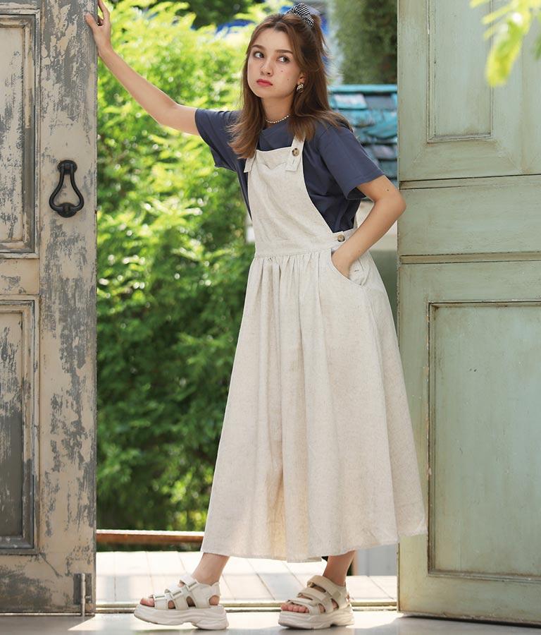 リネンライクジャンパースカート(ワンピース・ドレス/ロングワンピ) | CHILLE
